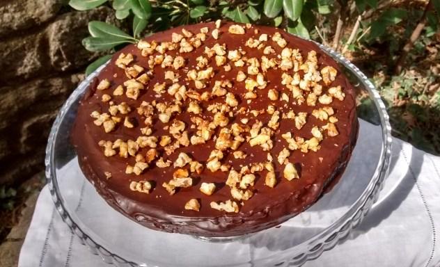 pastel de calabaza con chocolate