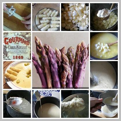 Crema de espárragos. Crème Argenteuil