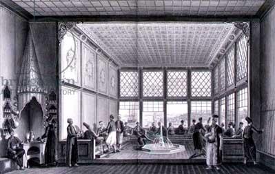 Antiguo salón de café en Constantinopla
