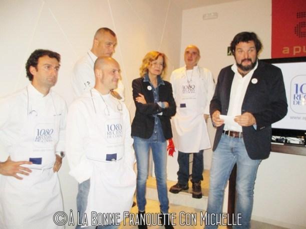 De Izda. a dcha. José Luis Estevan, Felipe Peira, Juan Pozuelo, Inés Ortega, Miguel López, Chema Castán