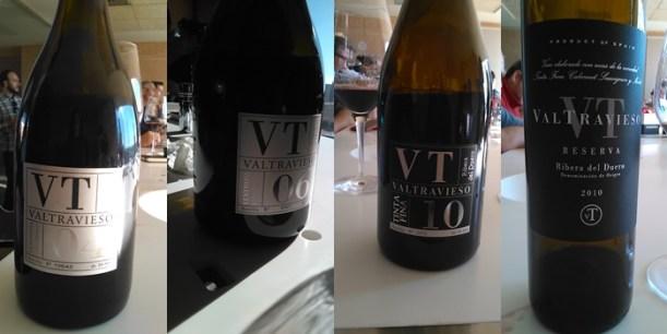 Algunos de los vinos de la cata.