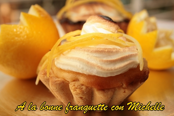 Tarta clásica de limón con merengue