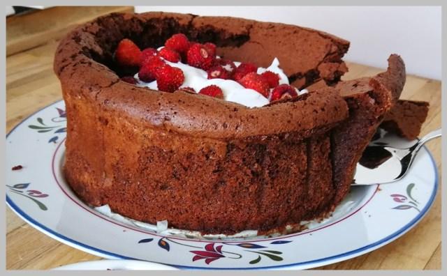 Bizcocho cremoso de chocolate. Moelleux chocolat