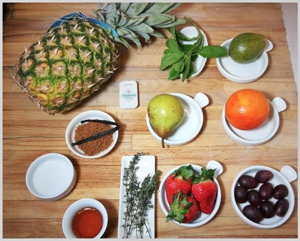 Macedonia de frutas sous-vide