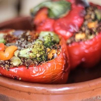 Pimientos rellenos de quinoa