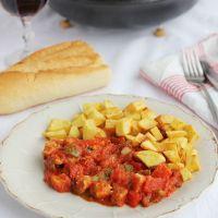 Carne con tomate o fritailla de carne, receta paso a paso
