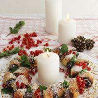 Cómo hacer una corona de Adviento de hojaldre y chocolate para Navidad