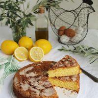 Bizcocho con limón y aceite de oliva virgen extra. ¡Riquísimo!