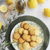"""Galletas de limón y aceite de oliva virgen extra """"aove"""""""