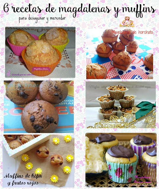6 recetas de magdalenas y muffins