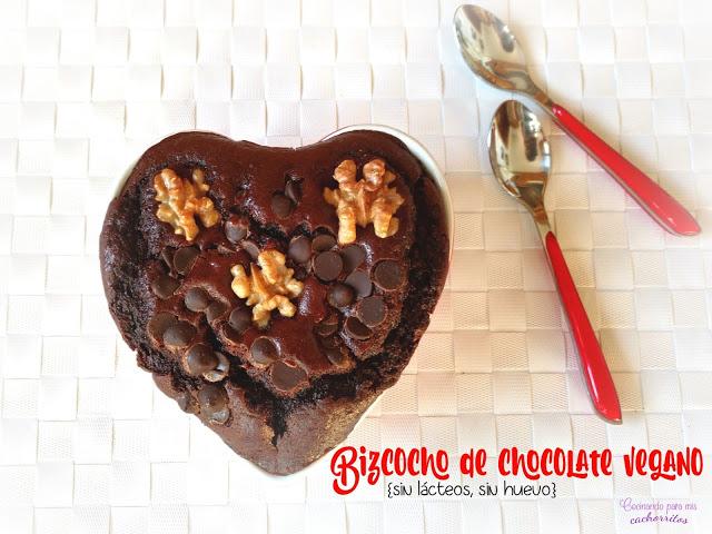 Bizcocho vegano de chocolate