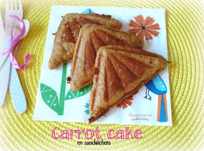 Carrot cake en sandwichera