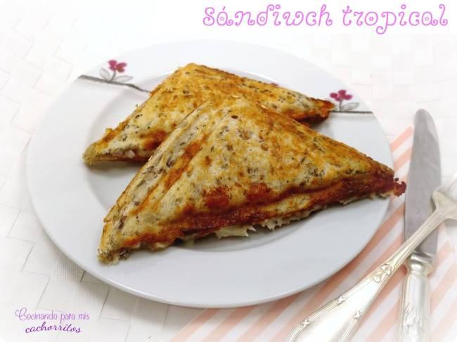 sándwich tropical