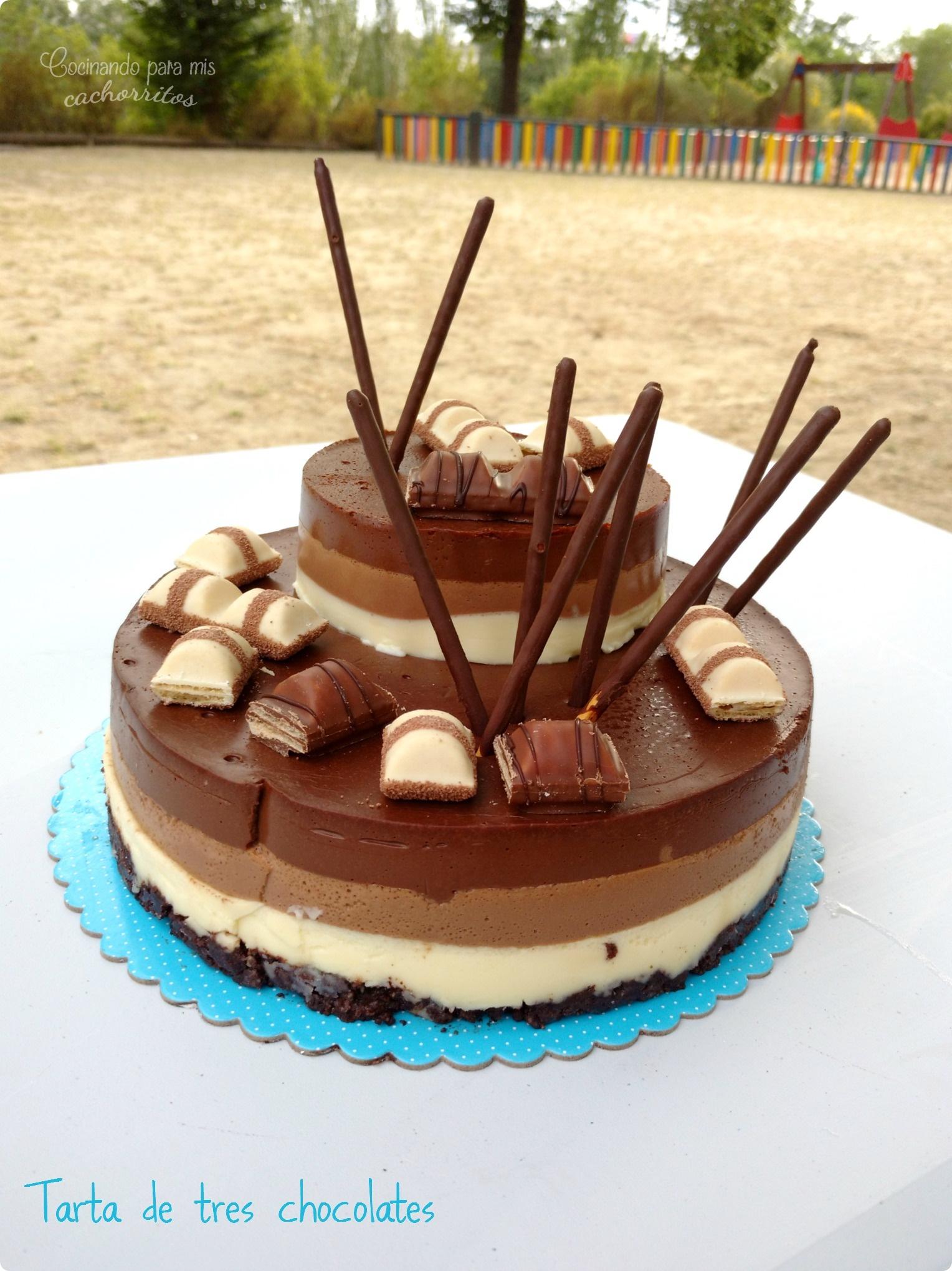 Tarta De Tres Chocolates Cocinando Para