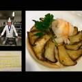 Tartaleta de setas coreanas y langostinos de Sanlúcar