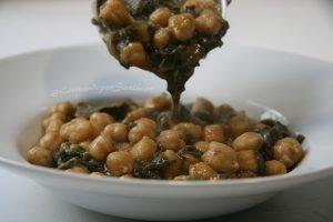 Garbanzos con acelgas. Cocinando por Sanlúcar