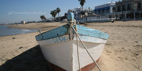 barca en Bajo de guía Sanlúcar de Barrameda