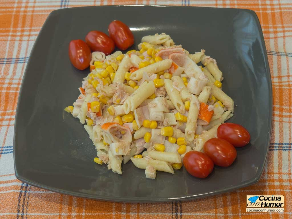 Receta de ensalada de pasta con atun - cocina con humo