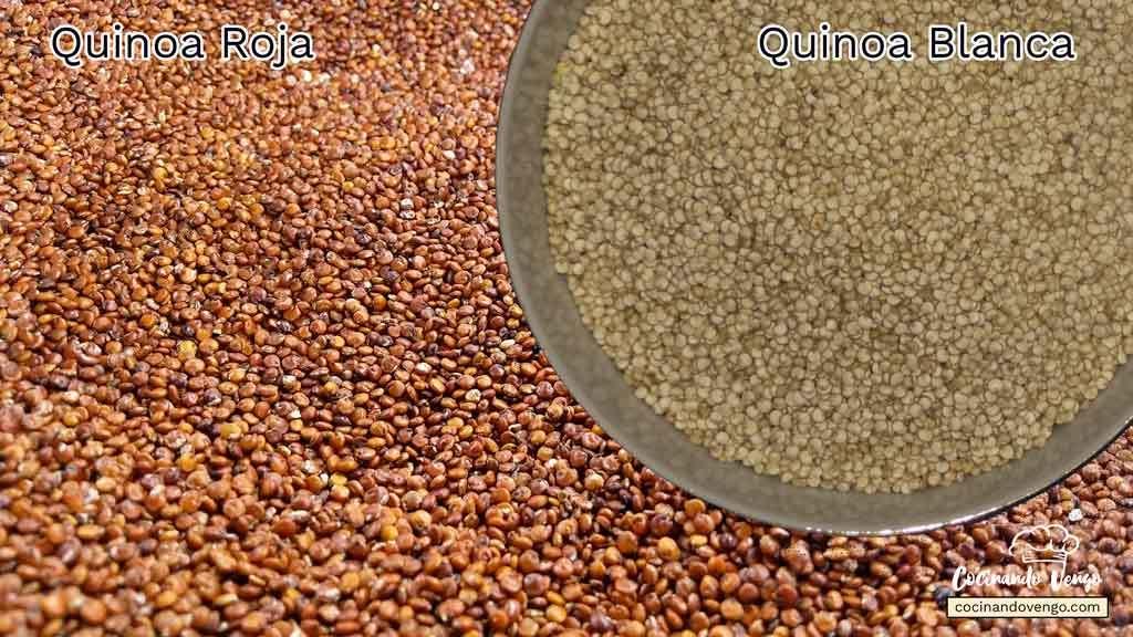 Quinoa roja y blanca