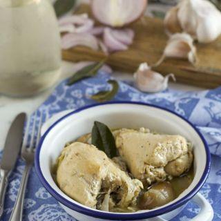 Pollo a la vinagreta, una receta familiar