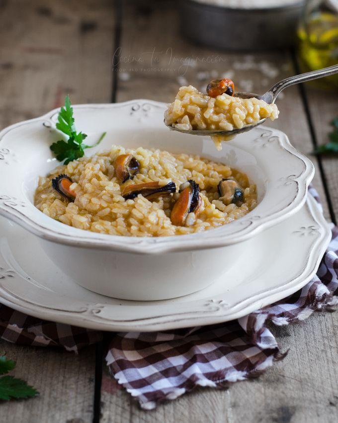 arroz meloso de mejillones