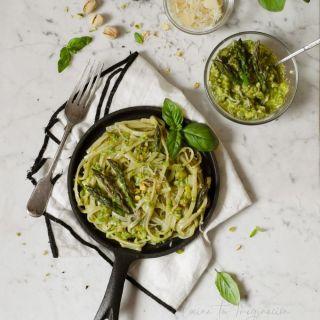 Salsa pesto de espárragos y pistachos con MyCook