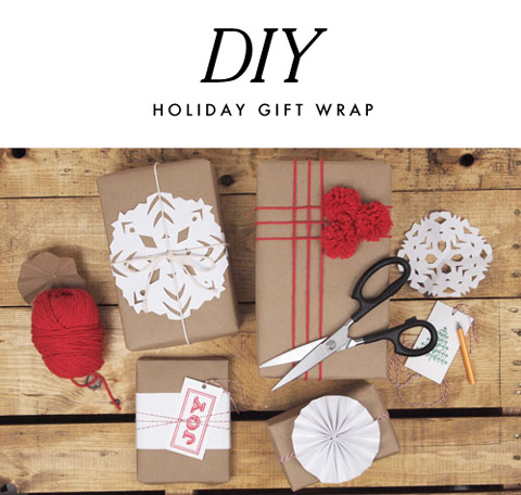 DIY Holiday Gift Wrap from A Pair of Pears