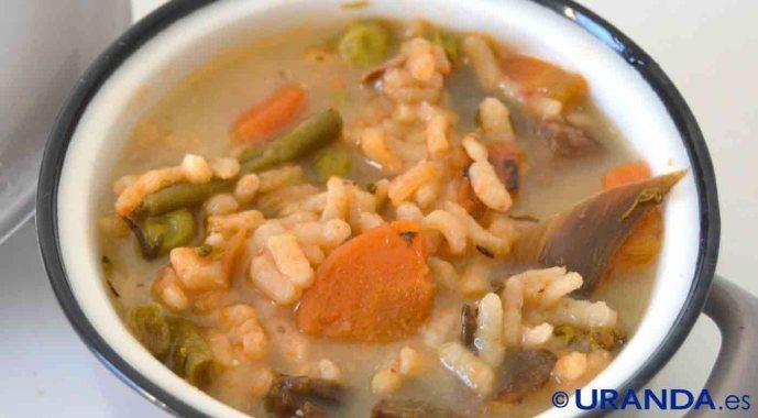 receta de arroz caldoso con verduras - recetas de arroces - recetas realfooding o real food