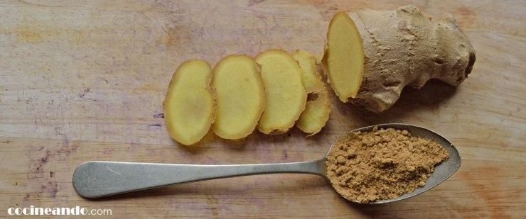 Usos culinarios del jengibre