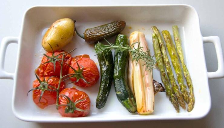 Cómo asar al horno carnes, pescados u hortalizas