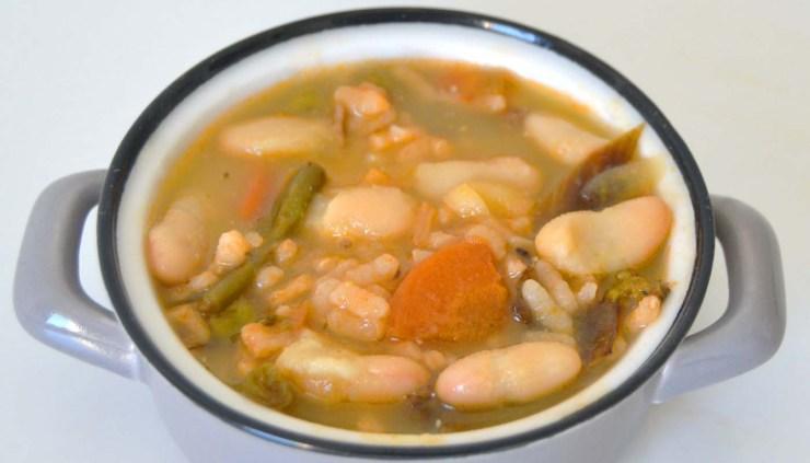 Receta de arroz con alubias y verdura - rcetas de arroces con legumbres - recetas realfooding o real food