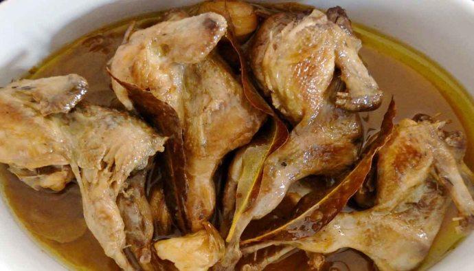 receta de codornices escabechadas o codorniz en escabeche - recetas con escabeche - recetas de escabeches - recetas de aves - recetas realfooding o real fooding