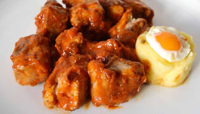 receta de costillas de cerdo con tomate - recetas de cerdo - recetas con costilla de cerdo - recetas realfooding o real food