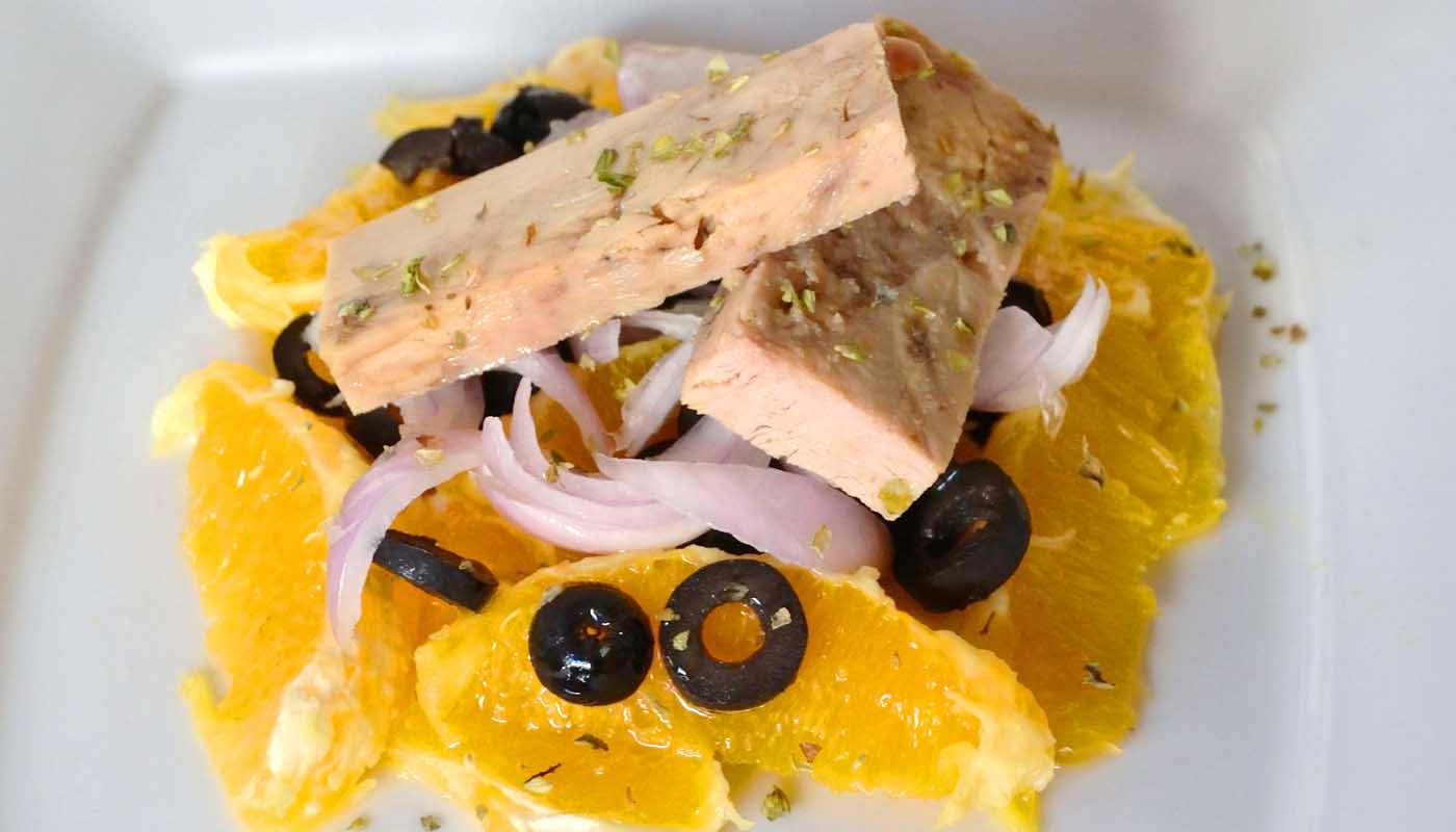 receta de ensalada de naranjas y atún - recetas de ensaladas con frutas - recetas realfooding o real food