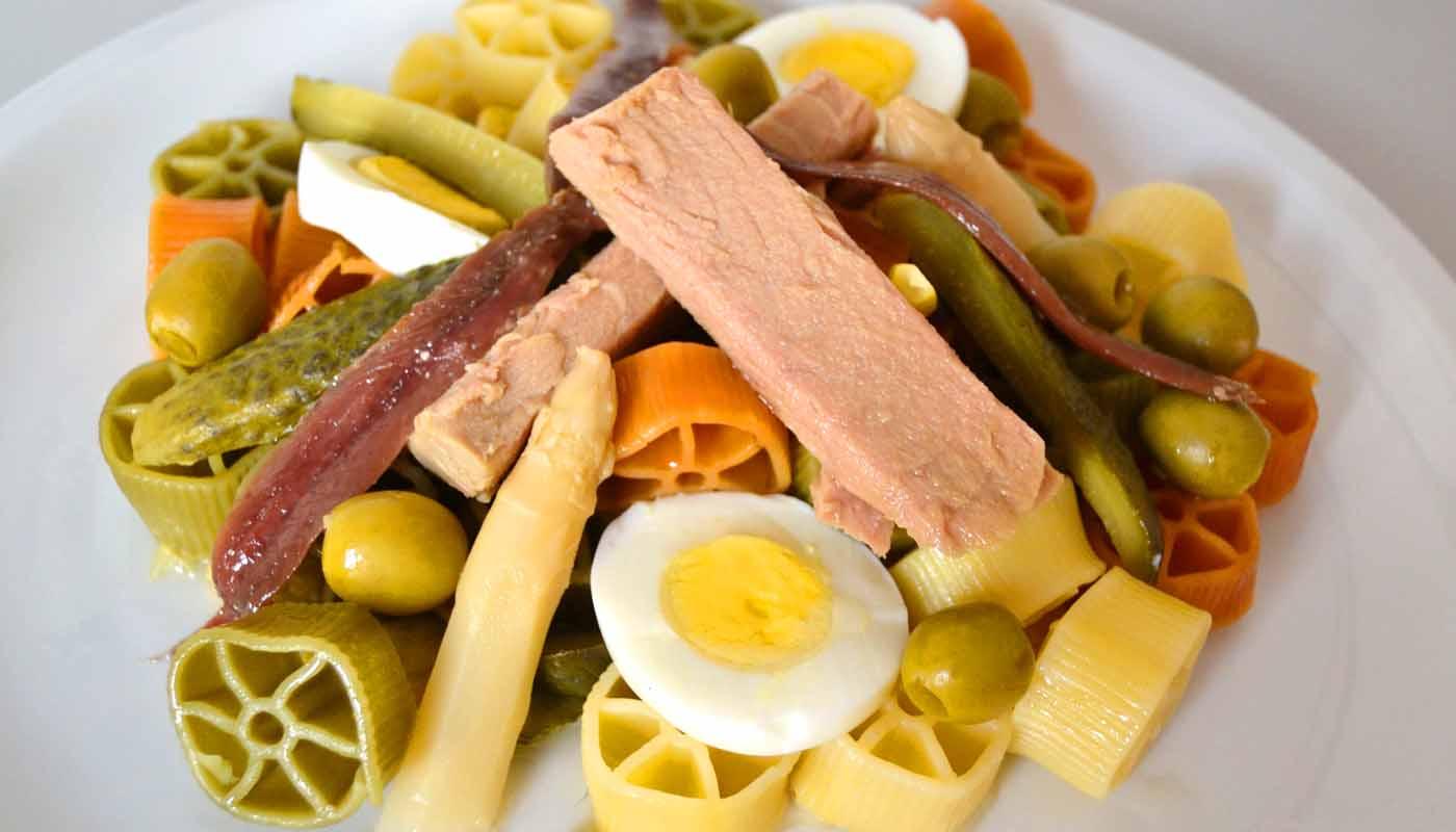 Receta de ensaladilla de pasta - recetas de ensaladas de pasta - recetas realfooding o real food
