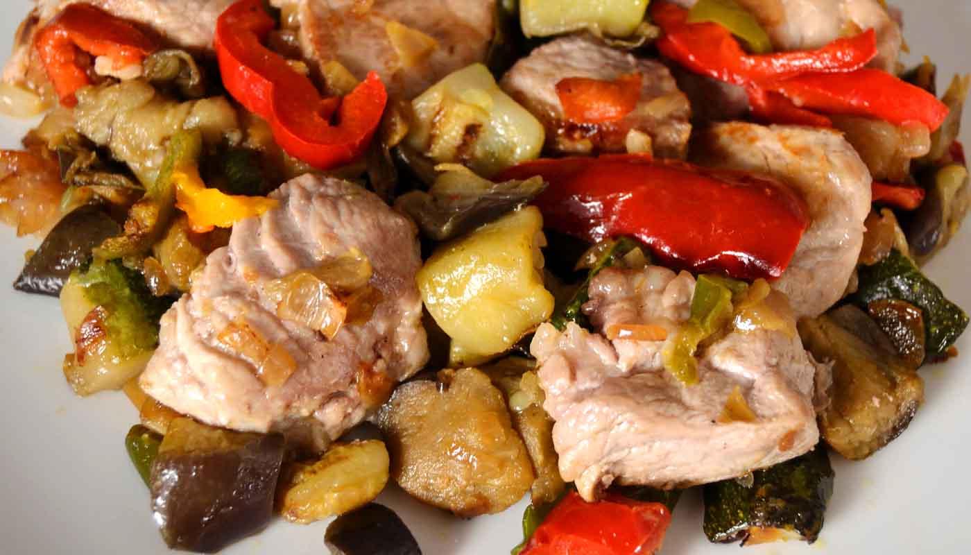 Receta de magro de cerdo con verduras - recetas de cerdo - recetas de carnes - recetas realfooding o real food