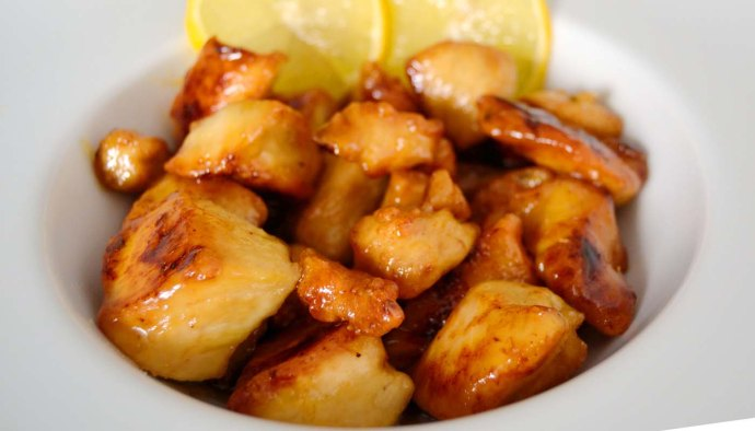Receta de pollo agridulce al limón estilo chino - recetas de pollo frito - recetas realfooding o real food