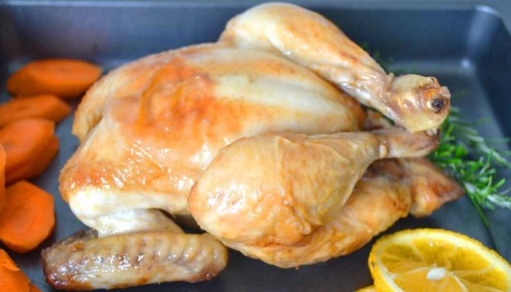 Receta de pollo asado al horno entero - recetas de pollo - recetas de carnes - recetas realfooding o real food