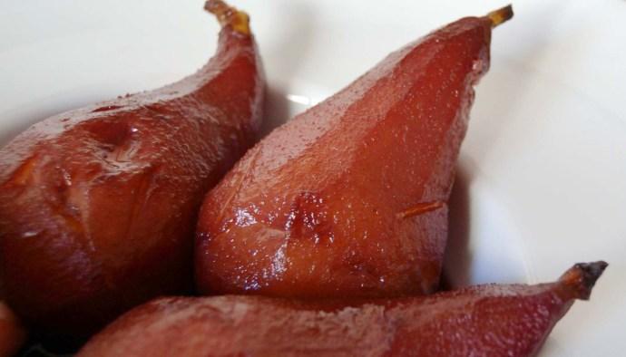 receta de peras al vino, peras con vino o peras en vinop - recetas de postres y dulces con frutas - recetas realfooding o rela food