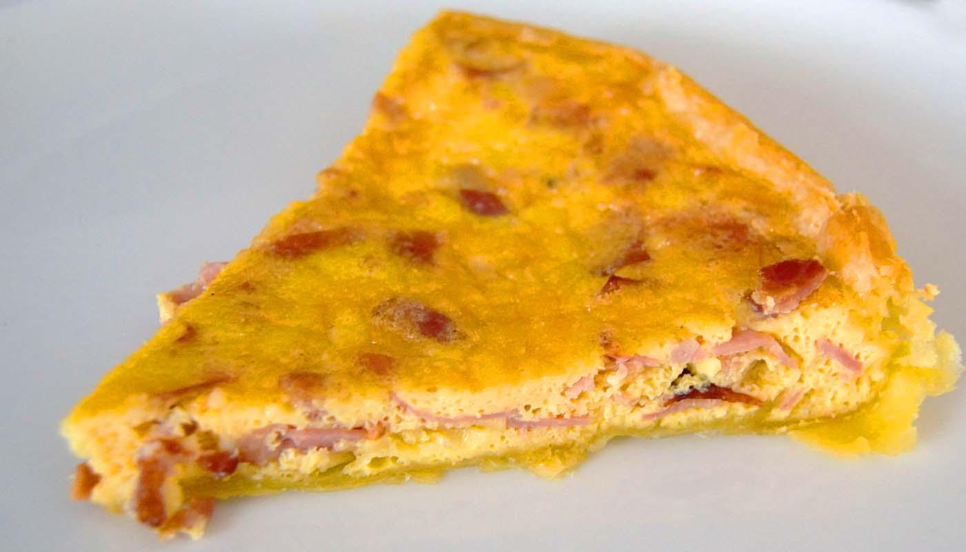 Receta de quiche de jamón york y bacon - recetas de quiches - recetas de huevos al horno - recetas realfooding o real food