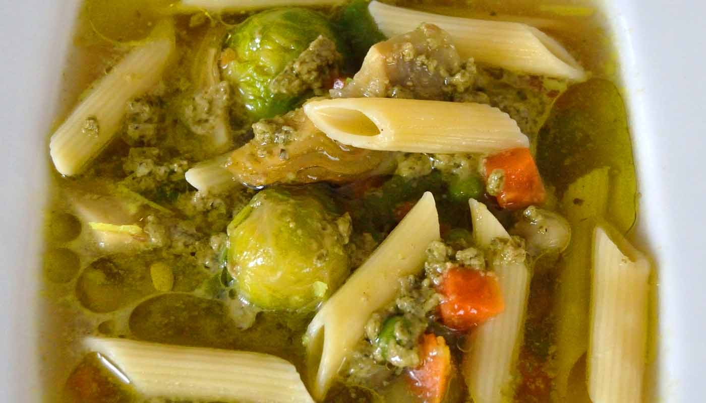 Receta de sopa minestrone - recetas de sopas de verduras - recetas de pasta - recetas realfooding o real food