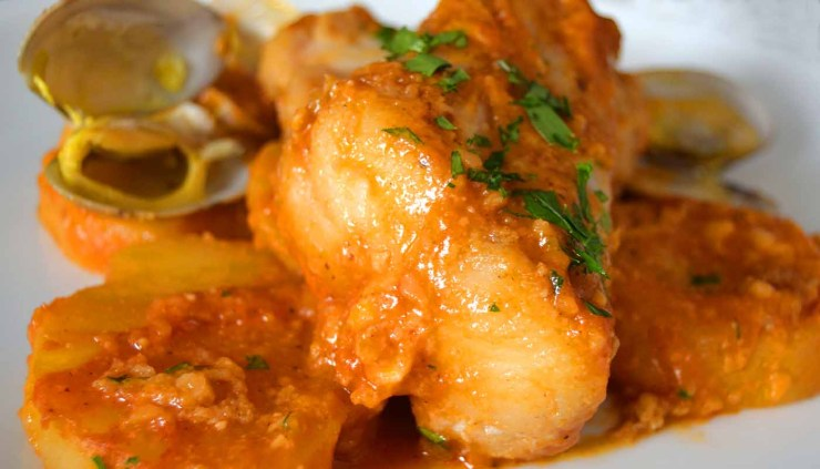 Receta de suquet de rape - recetas de Navidad - recetas de pescado y marisco guisados - recetas realfooding o real food