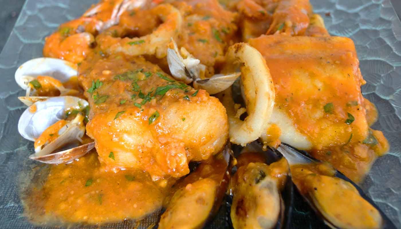 Receta de zarzuela de pescado y mariscos - recetas de guisos - recetas de pescados y mariscos - recetas realfooding o real food