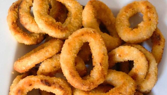 Receta de aros de cebolla empanados - receta de aritos de cebolla - recetas de verduras y hortalizas - recetas realfooding o real food