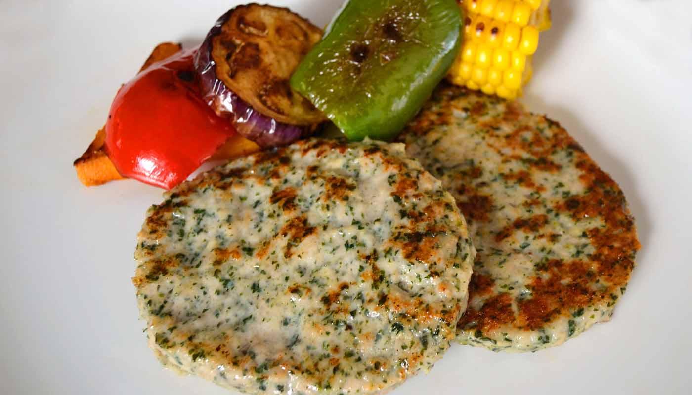 receta de hamburguesas caseras de espinacas - recetas con espinacas - recetas de cenas ligeras y saludables - recetas realfooding o real food