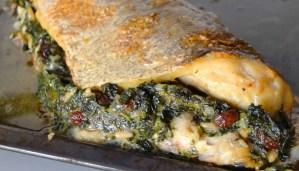Receta de merluza rellena de espinacas - recetas de pescados y mariscos asdos - recetas realfooding o real food