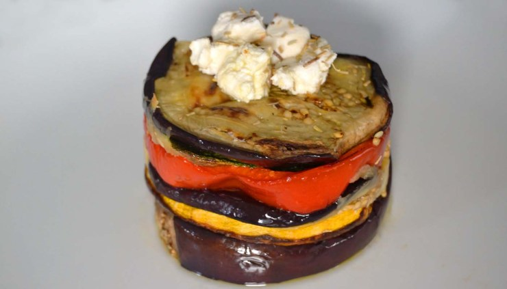 Receta de milhojas de hortalizas fritas o salteadas - recetas con calabaza - recetas de verduras fritas o salteadas - recetas realfooding o real food