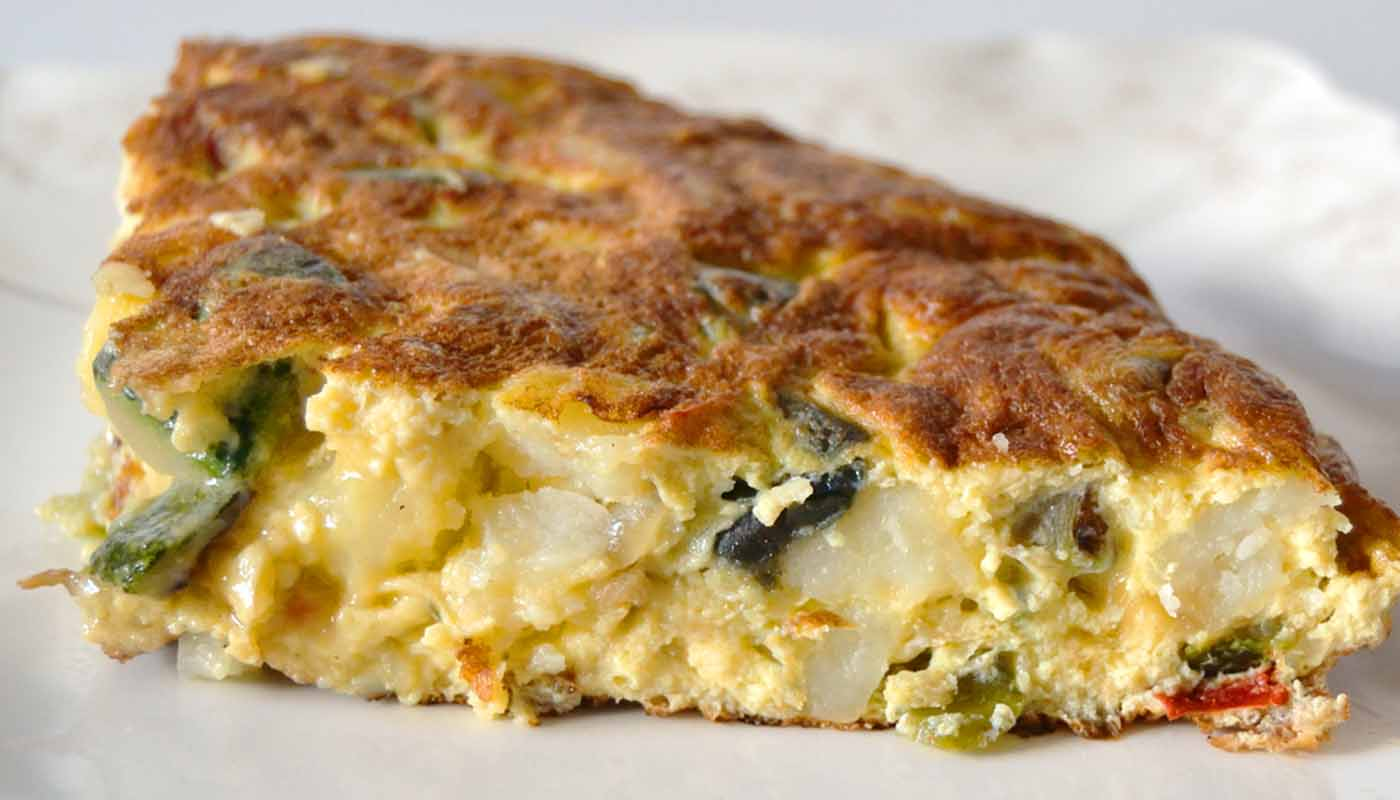 receta de tortilla jardinera de verduras - recetas de tortillas u omelettes - recetas con verduras y hortalizas - recetas realfooding o real food