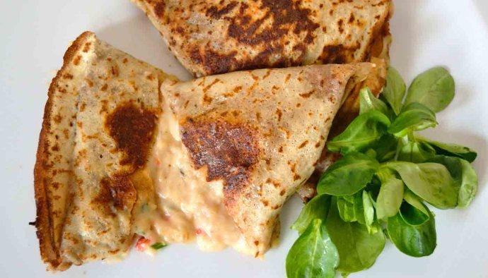 Receta de crepes rellenas de pescado - recetas de crepes, empanadas y masas rellenas - recetas realfooding o real food