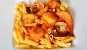 Receta de pasta con frutos del mar - recetas de pasta - recetas realfooding o real food